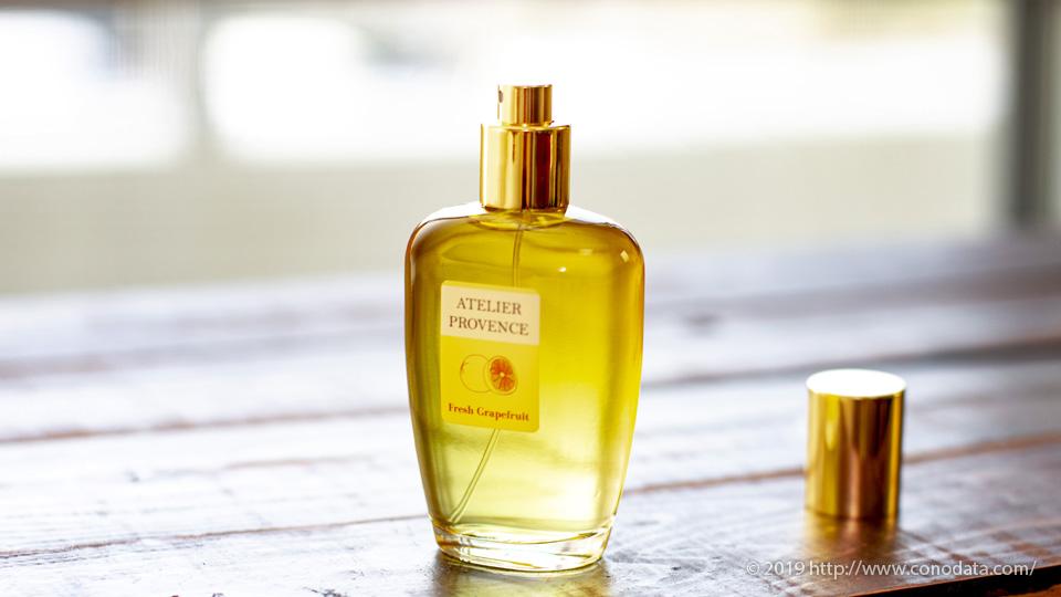 メンズにおすすめしたい爽やかな柑橘の香り「アトリエ プロヴァンス ピンクグレープフルーツ」 のボトル画像