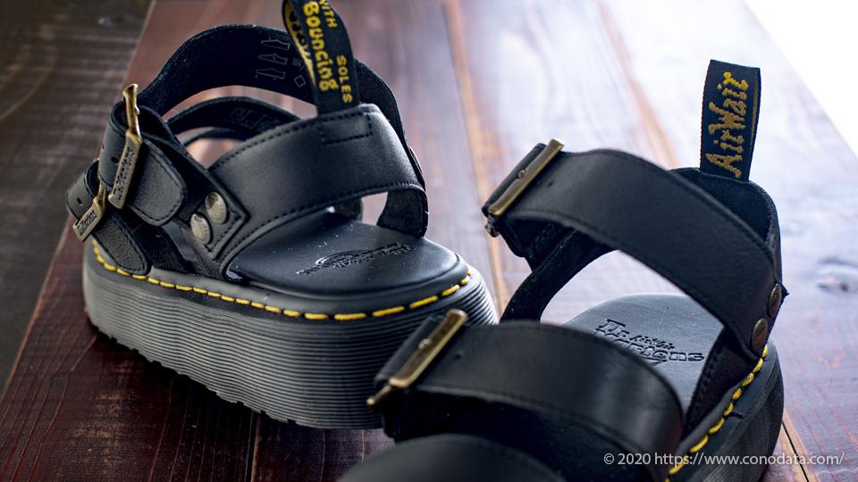 Dr.Matens(ドクターマーチン)のゴツ目のサンダルGRYPHON QUAD(グリフォン クアッド)のおすすめファッションアイテムを印象付ける画像