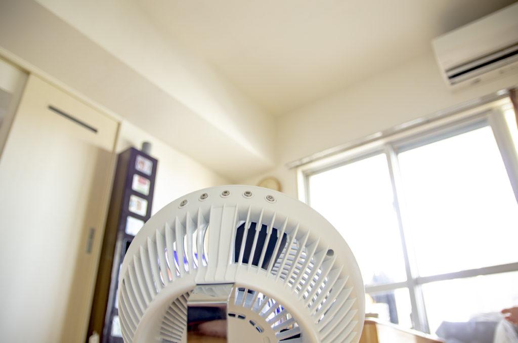 サーキュレーター「VORNADO(ボルネード)660-JP」を室内に設置して空気を循環させている画像